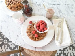 Healthy waffle recipe with pumpkin