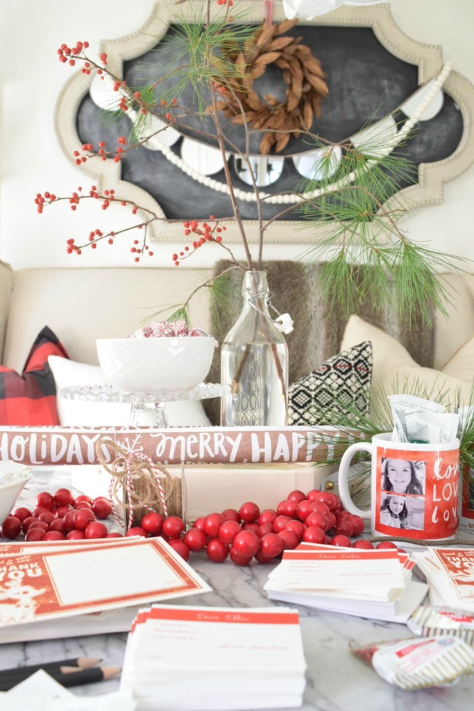 christmas countdown with Tiny prints