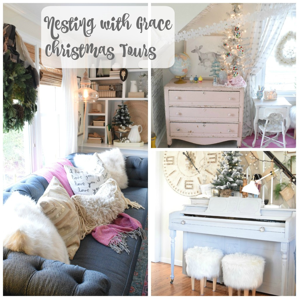 christmas home decor ideas in a cozy cape cod style home.