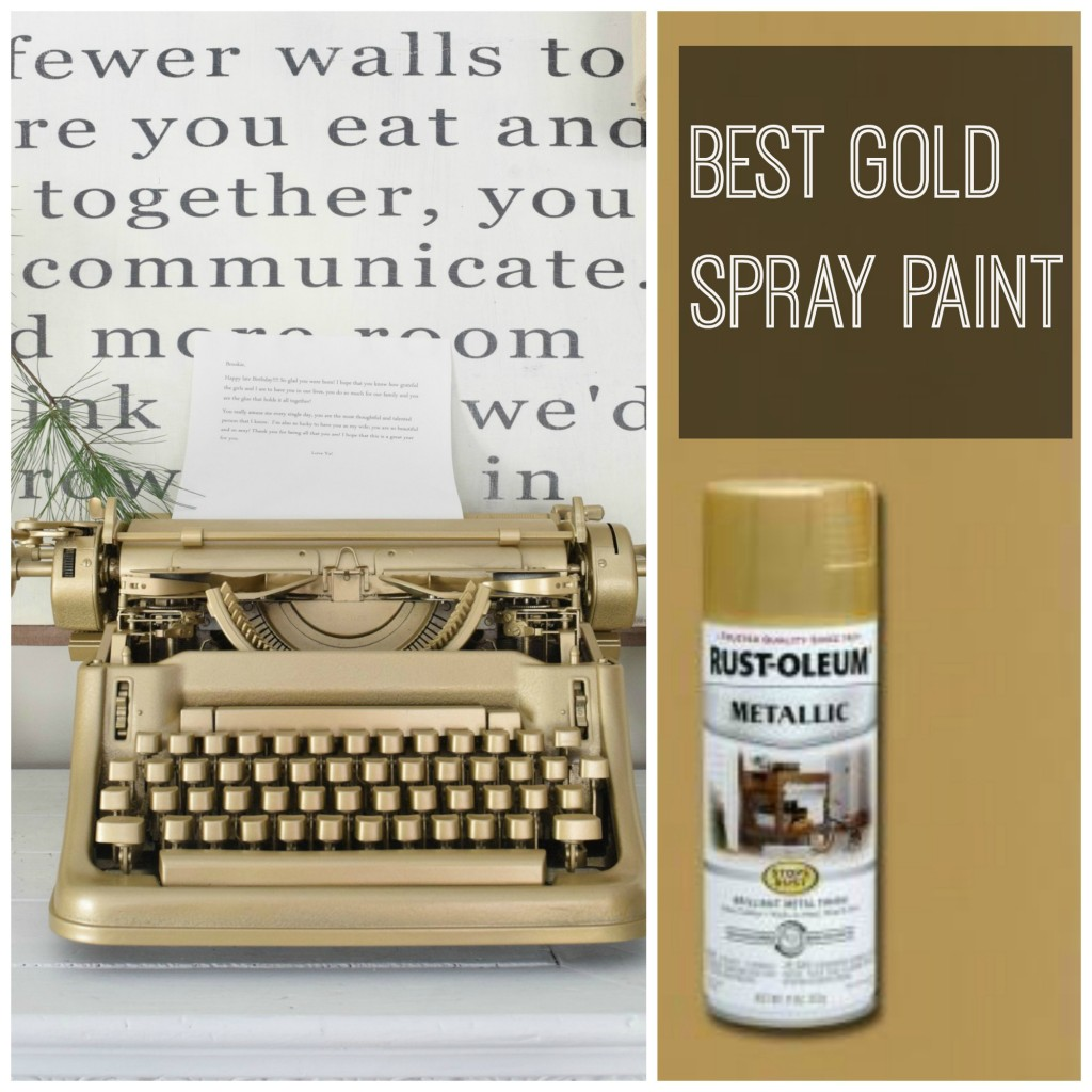 Favorite Gold Spray Paint