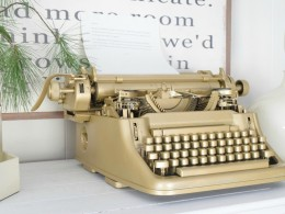 Birthday gift vintage Typewriter and New Years Resolutions
