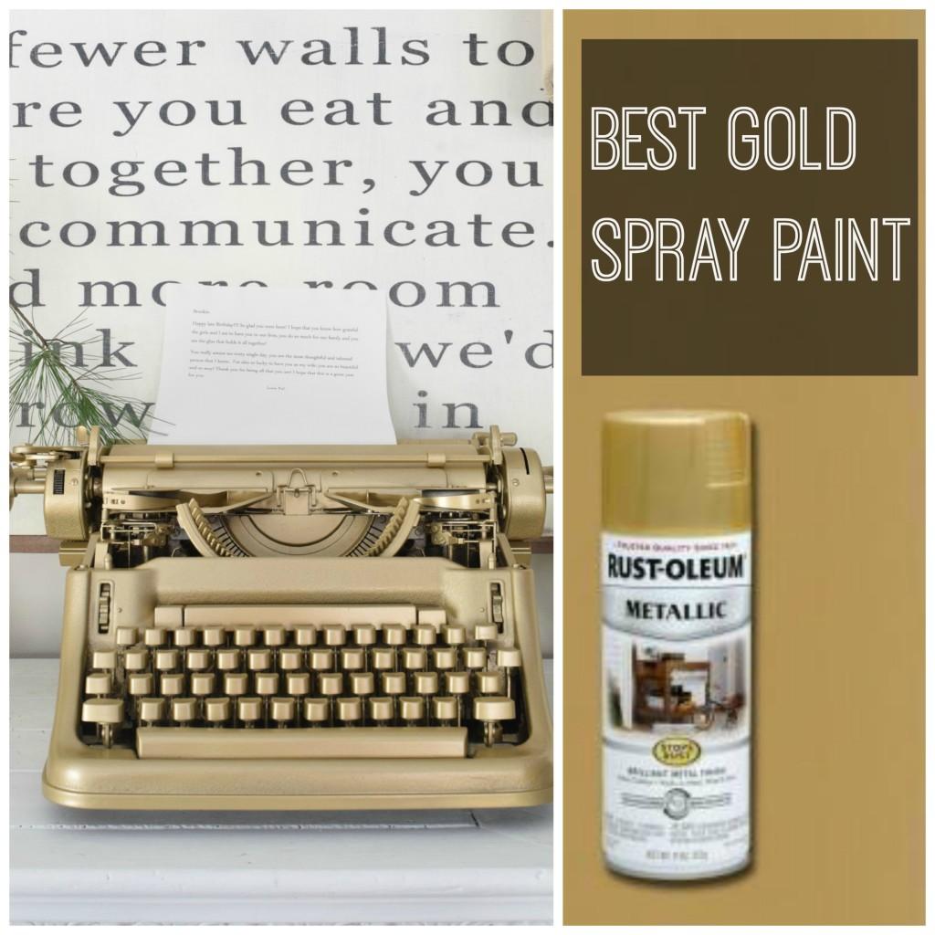 favorite gold spray paint
