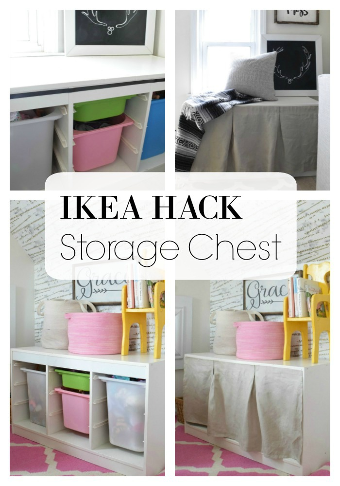 ikea hack toy chest nesting with grace