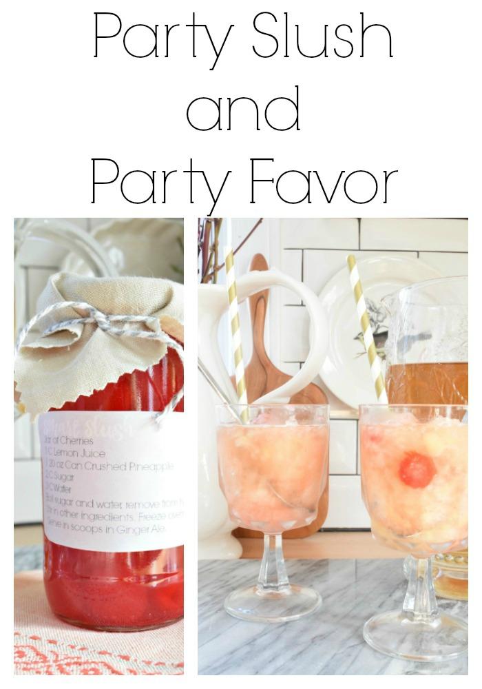 party slush drink recipe and party favor idea