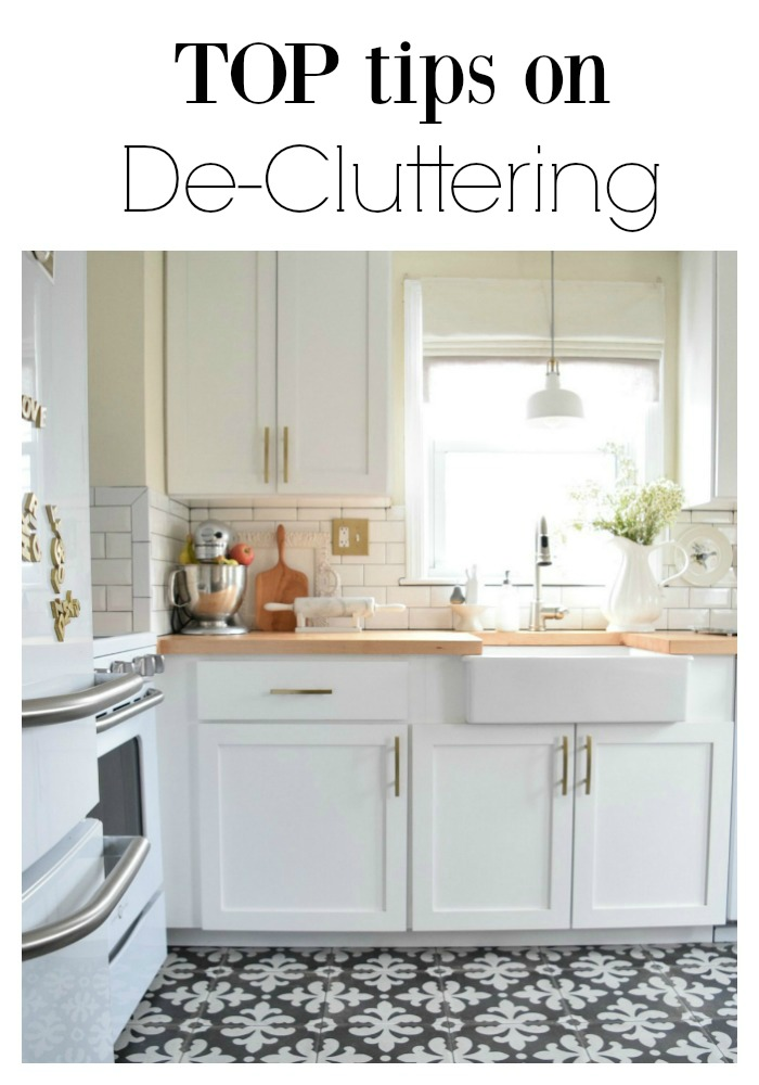 top tips on de-cluttering and organizing