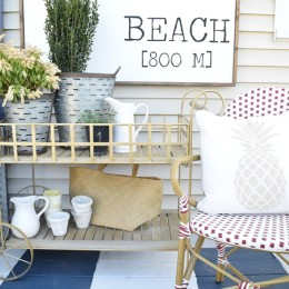 DIY Painted Deck and Decor