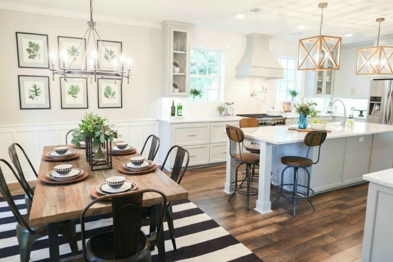 How to pick the right size rug nesting with grace for Joanna gaines dining room designs