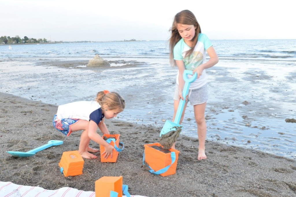 Summer fun sandcastles and beach