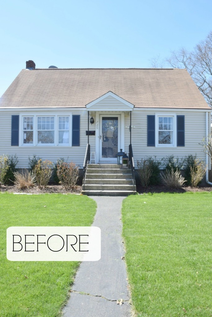 Curb appeal diy details nesting with grace for Small cape cod house