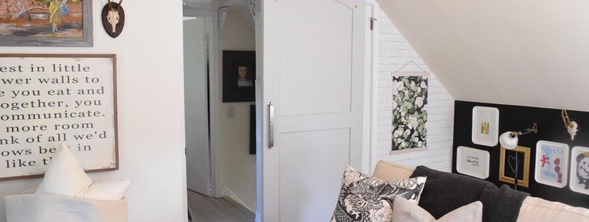 New Family Room Barn Track Door