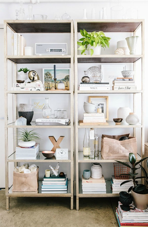 Bookcase styling easy tips tricks city farmhouse Where to put a bookcase in a room
