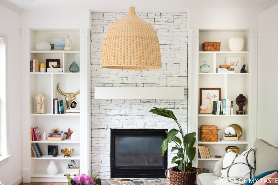 Bookcase styling- What I learned from a FB comment