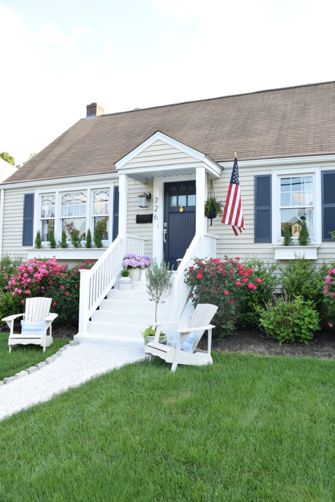 Curb appeal diy details nesting with grace for Cape cod exterior