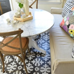 Banquette Style Seating in a Small Space