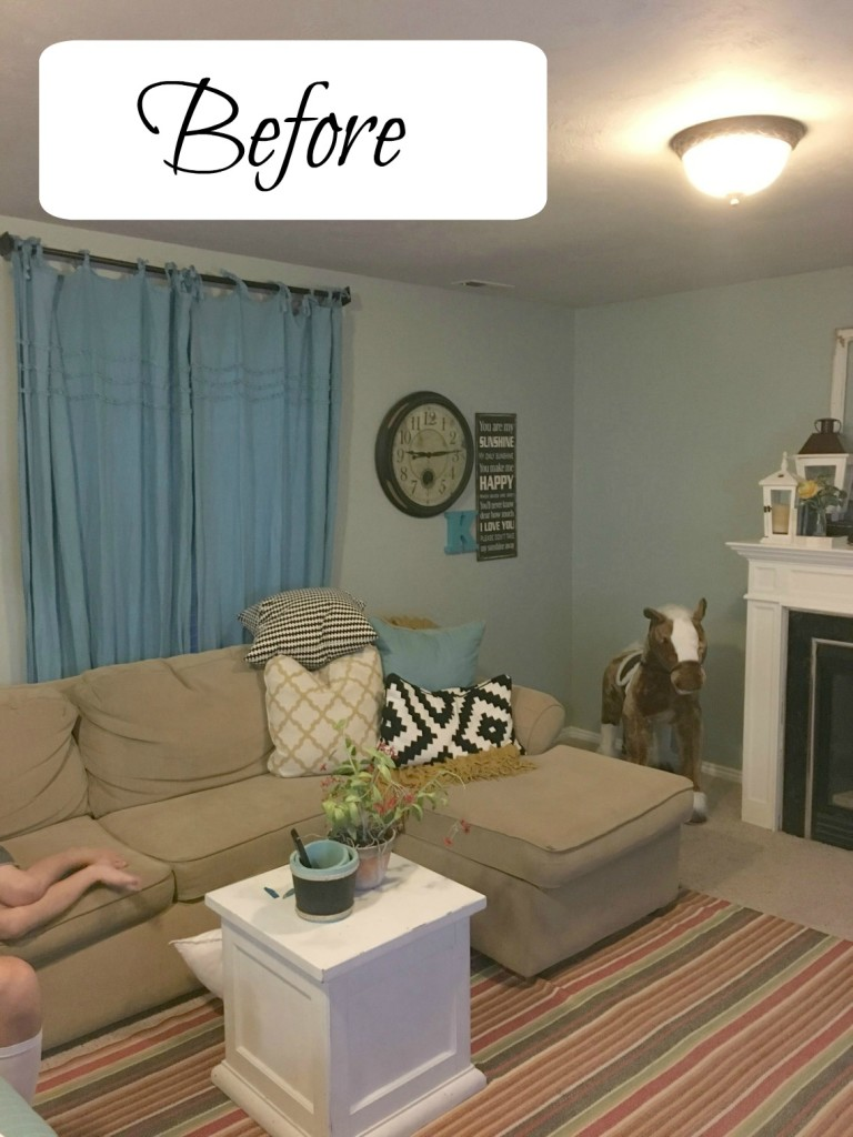 Before- Best white and neutral paint color for entire house from Dutch Boy