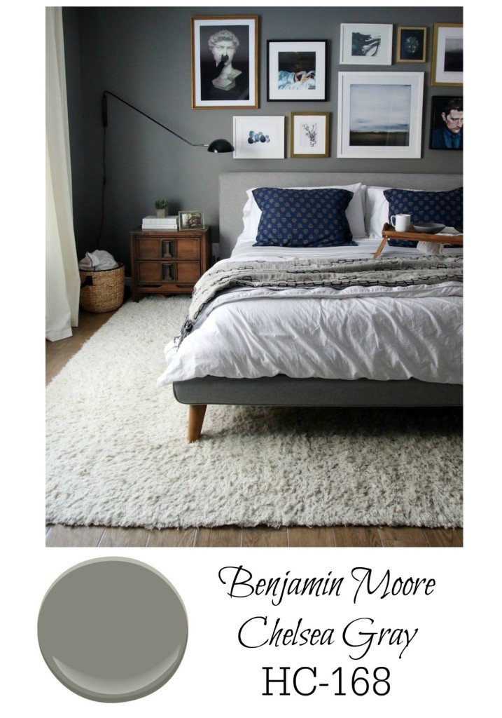 Gray Paint For Bedroom : Dark bedroom walls