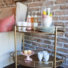 Bar Cart and Serving Station