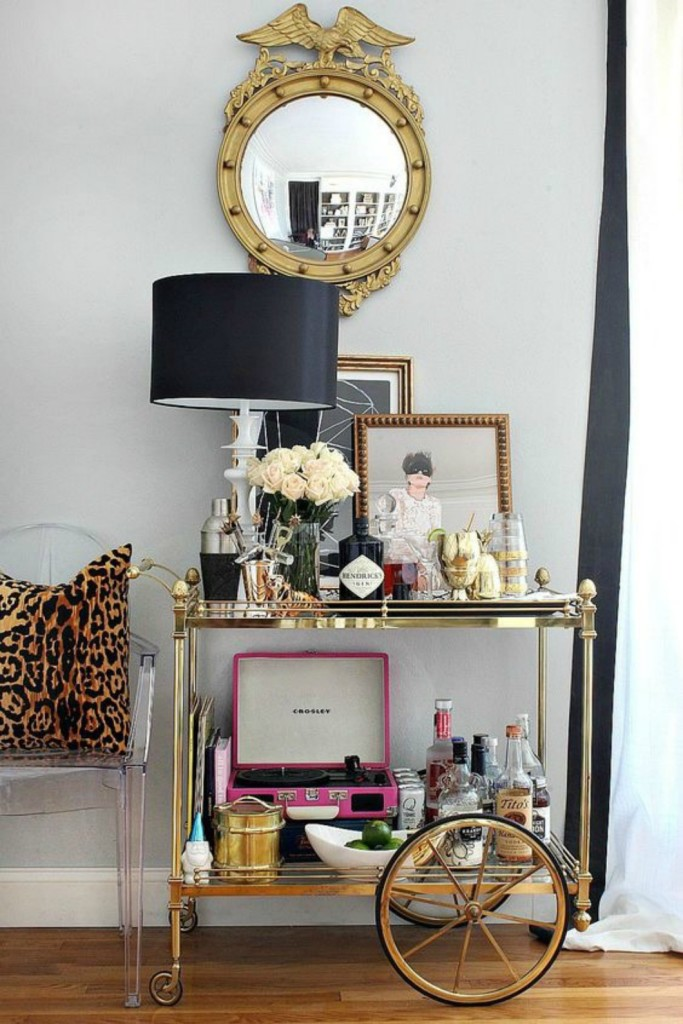 Bar Cart and Serving Station - Nesting With Grace