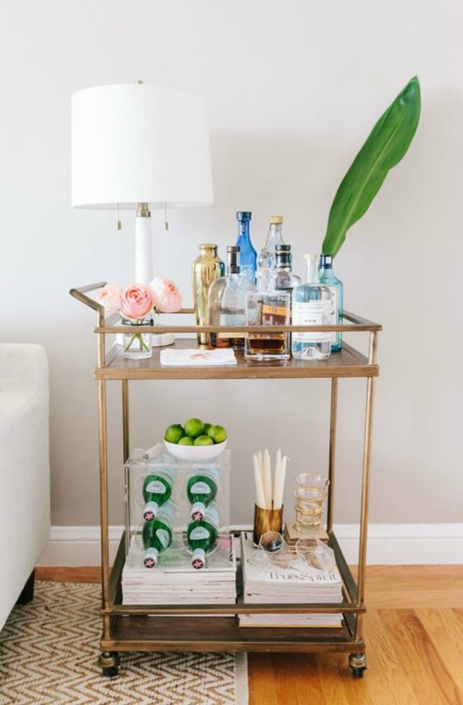 Bar Cart And Serving Station Nesting With Grace