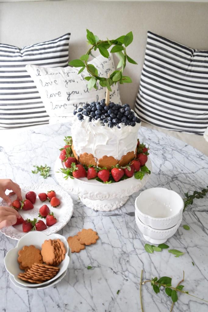 Watermelon Cake Recipe idea from Pinterest and Cake Topper idea