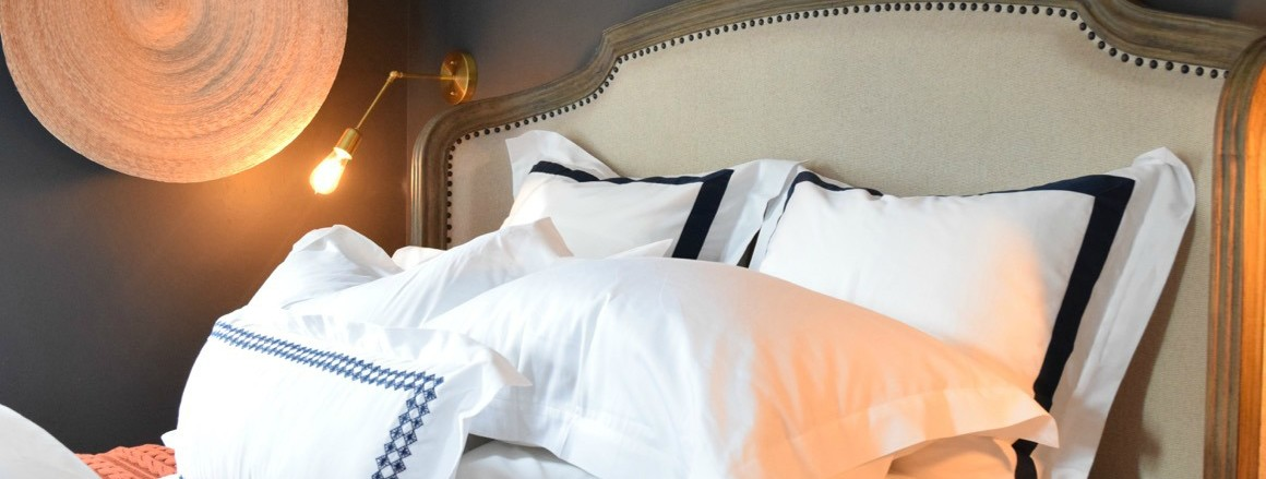 Fluffy White Master Bedding