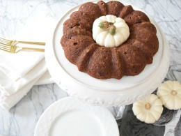 pumpkin bread made in a bundt pan- healthy snacks for kids