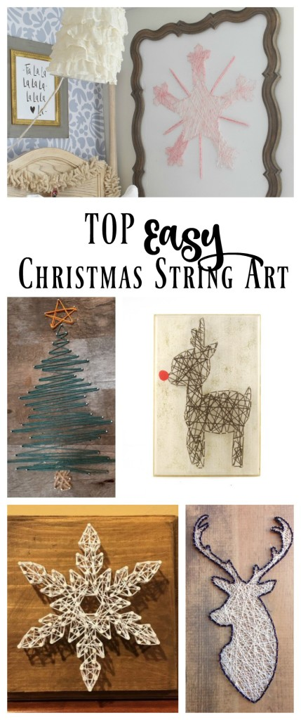Top Easy Christmas String Art Design Ideas