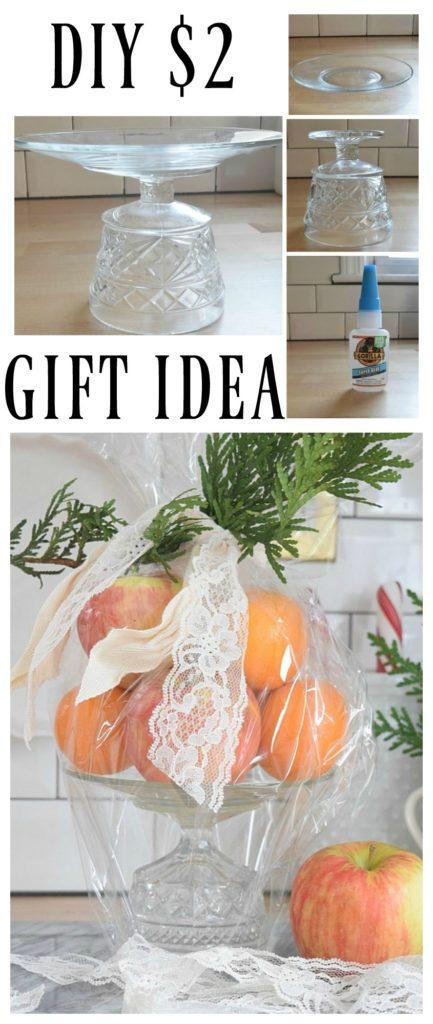Easy DIY- Gift Idea- Glass Cake Pedestal