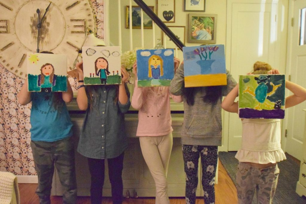 Paint Night- Birthday Party Ideas for Girls