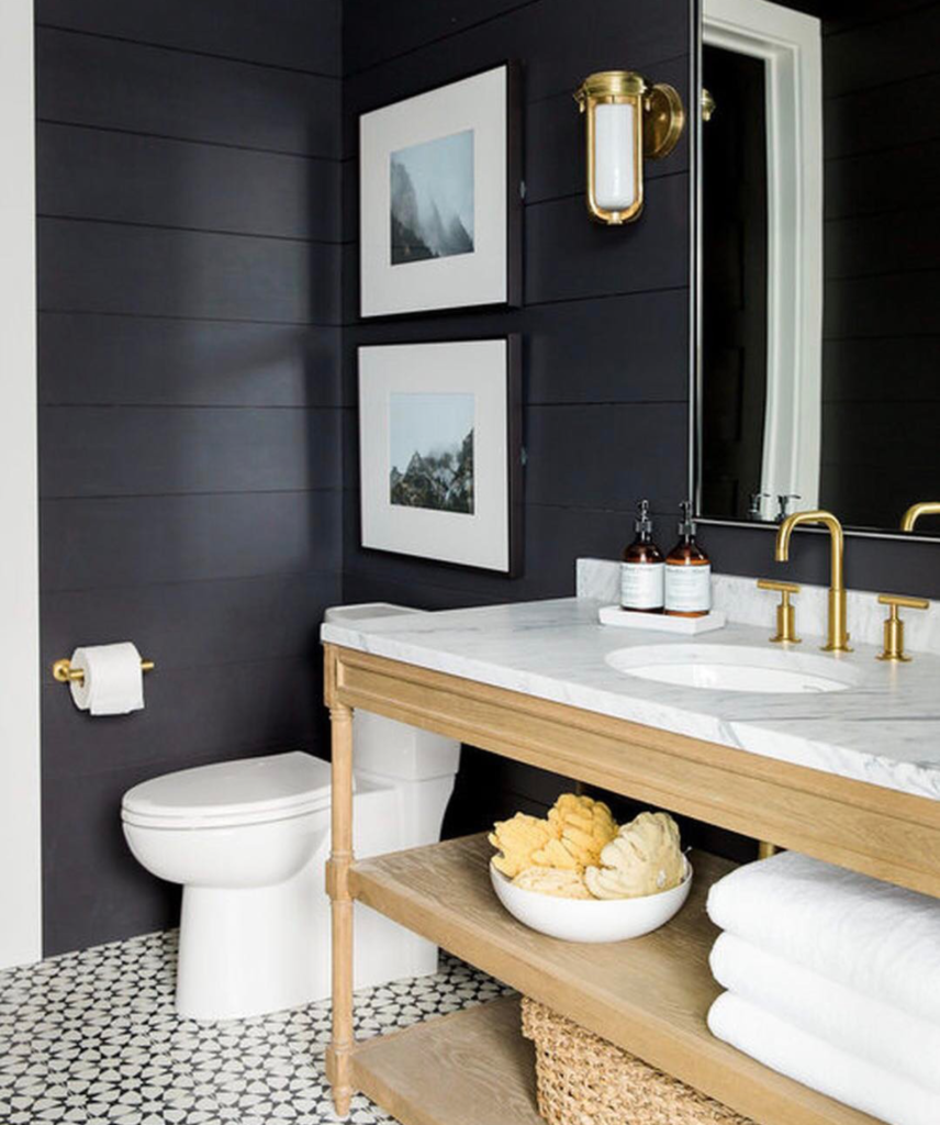 Friday Favorites- Pinterest Top 100 Pins- Black and White Bathroom
