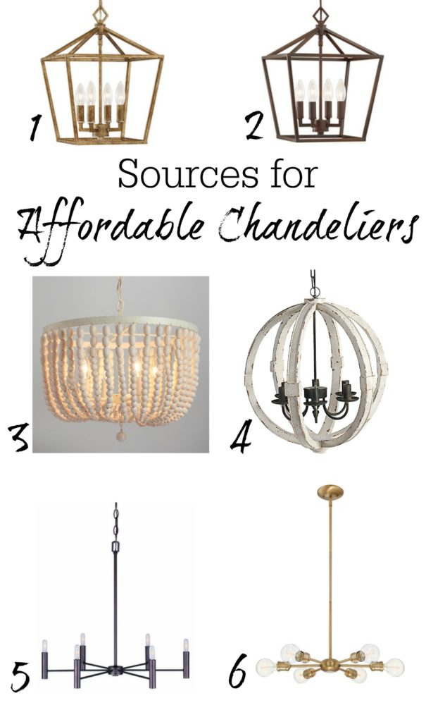 Affordable Chandlier Sources