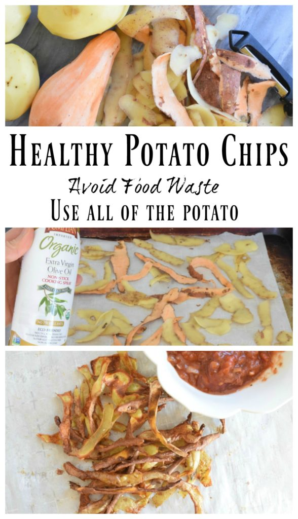 Recipe Healthy Potato Chips- Use all of the potato