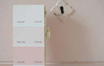 Pink Paint- Benjamin Moore Dream Whip 2174-60 Perfect Pink Painted Dresser 01