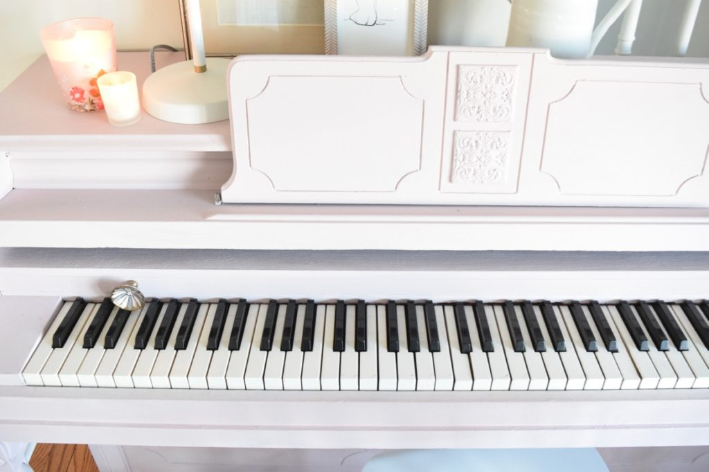 Painted Piano Soft Pink Chalk Paint Nesting With Grace