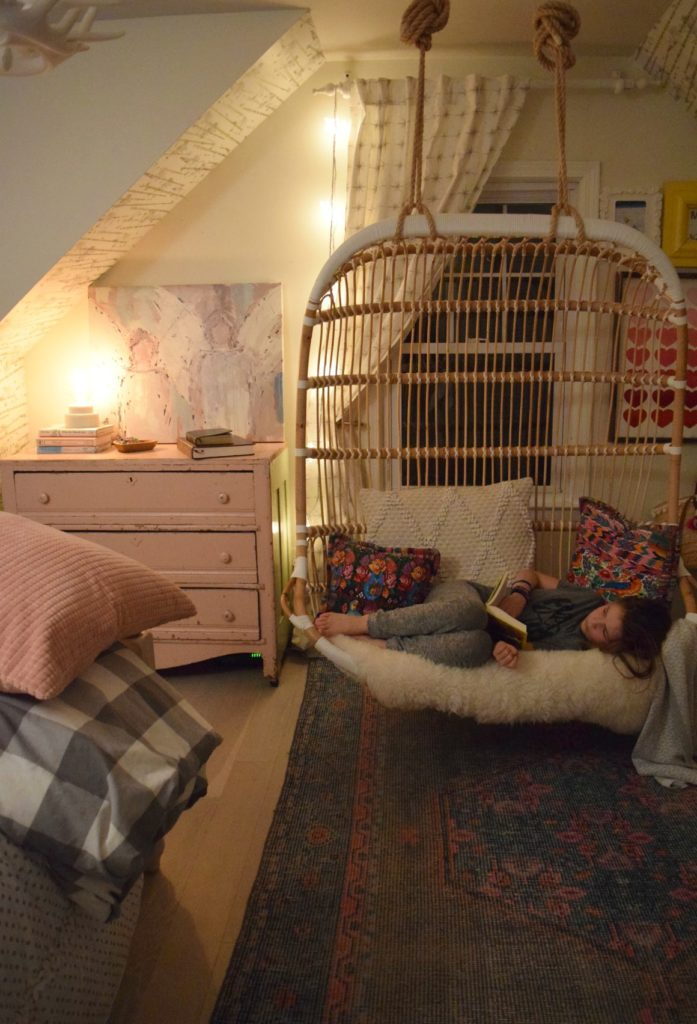 Friday Favorites- Double Hanging Chair- Girls Shared Bedroom
