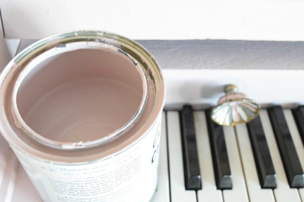 Painted Piano Update- Soft Pink Paint Chalk Paint