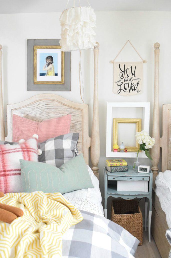 Spring Home Decor Ideas- Spring Home Tour Girls Bedroom