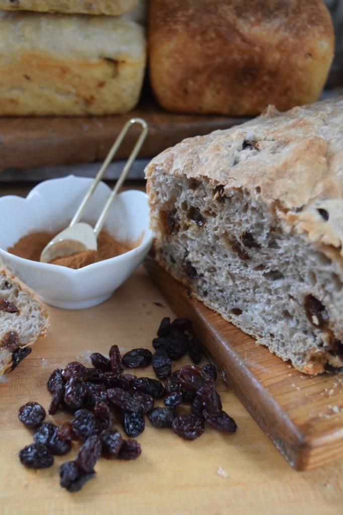Easy Homemade Artisan Bread Recipe- 6 Different Ways Cinnamon Raisin