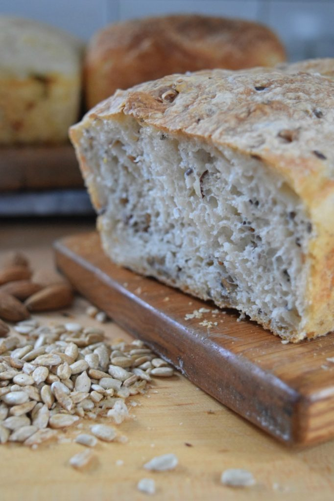 Easy Homemade Artisan Bread Recipe- 6 Different Ways - Flax Seed Bread