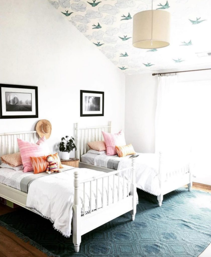 Home Tour- Girls Shared Bedroom and Gorgeous White Kitchen