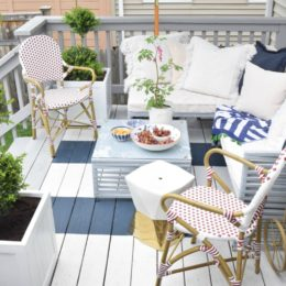 Outdoor Casual Dining on our Painted Deck