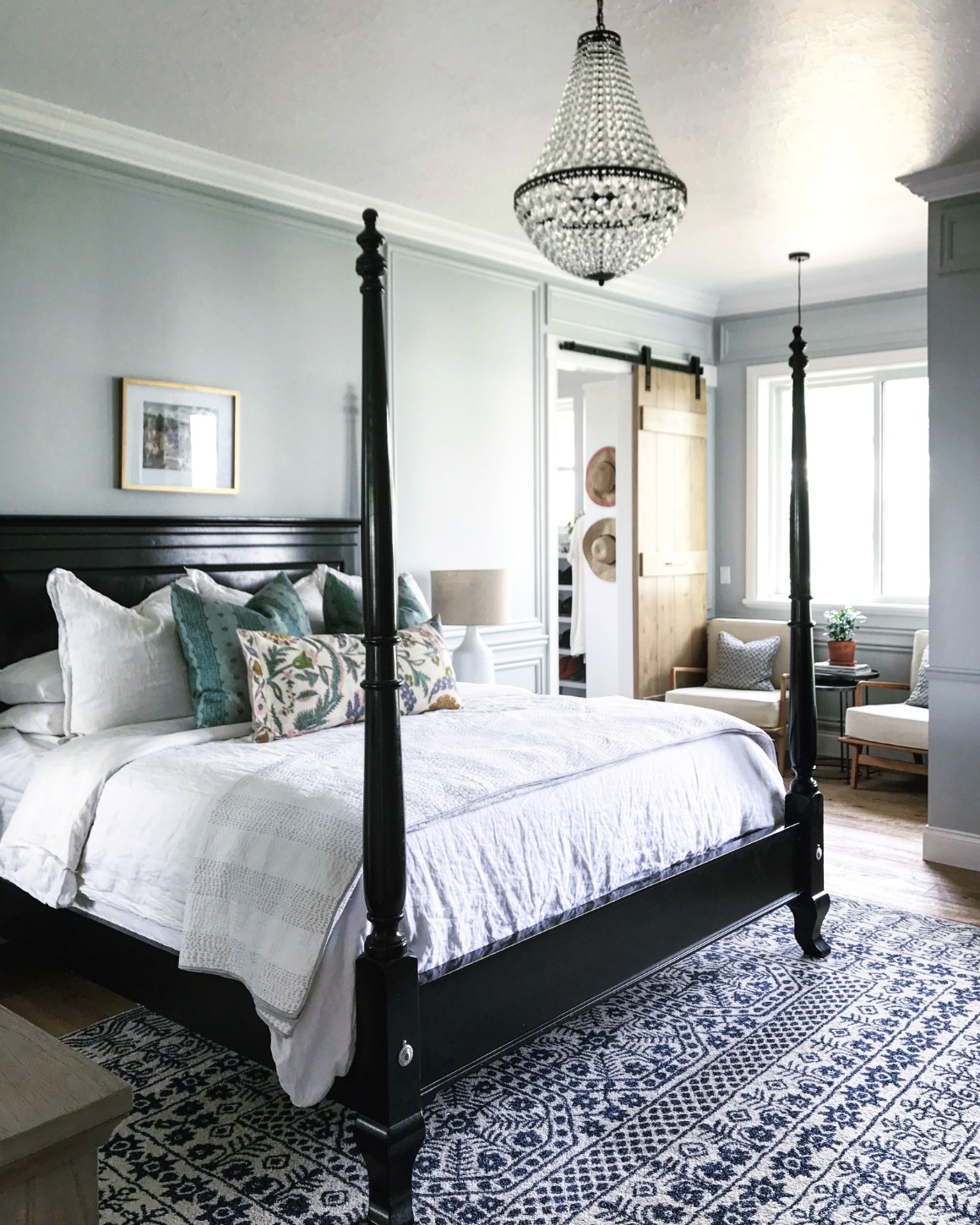 Grey Master Bedroom: Master Bedroom And Bath Tour- Mixing Old And New