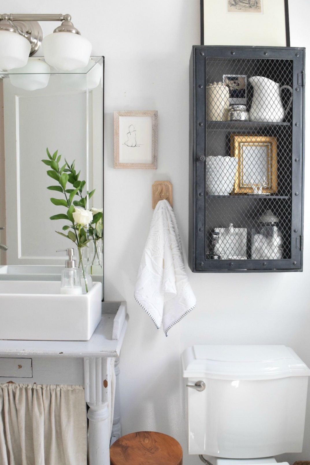 Small bathroom ideas and solutions in our tiny cape nesting with grace - Pictures of small bathrooms ...
