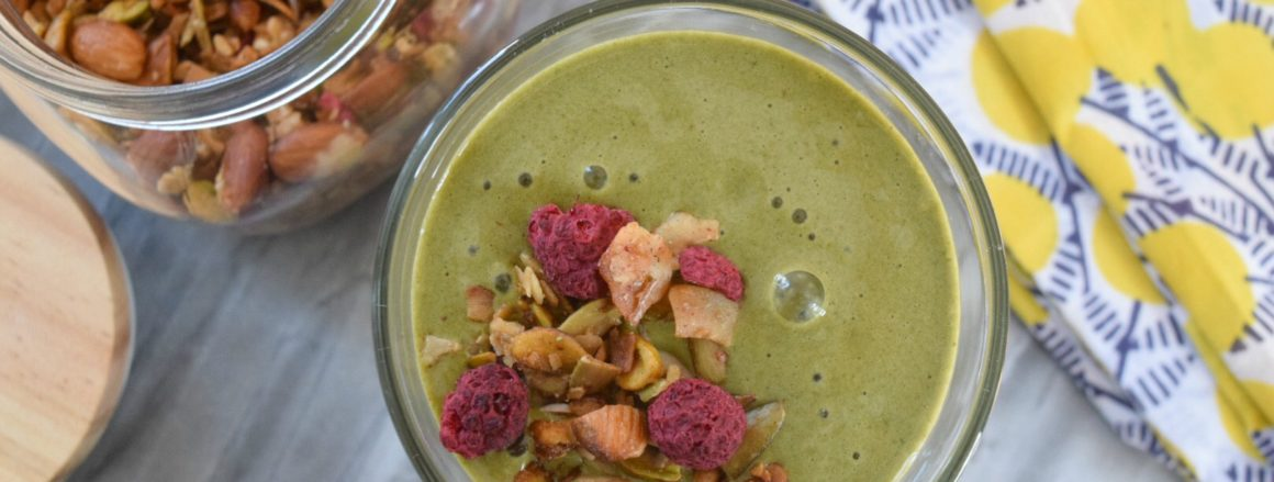 Quick Healthy Smoothie Recipe made on our Tea Cart