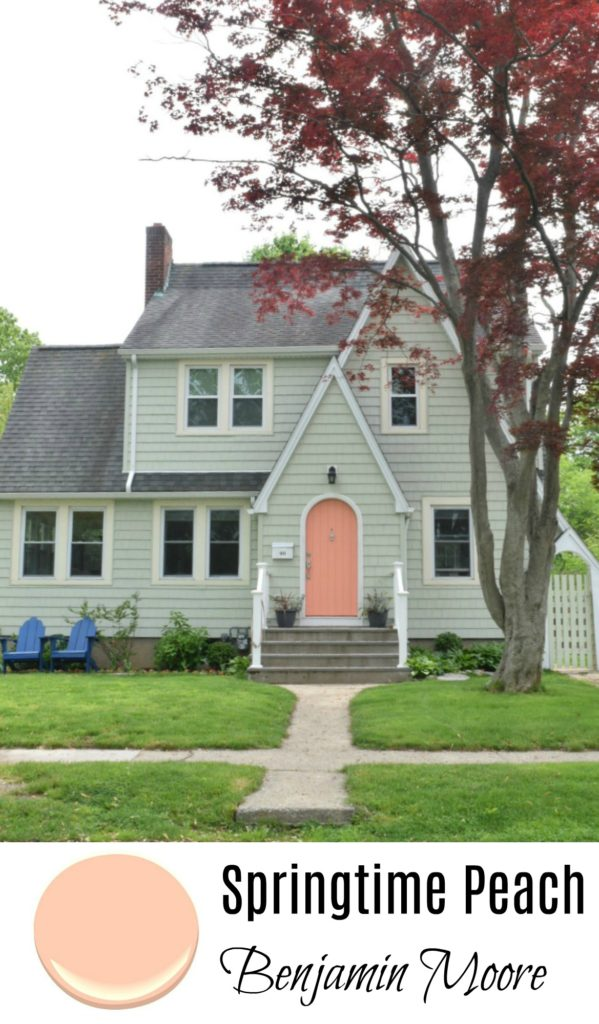 Springtime Peach Benjamin Moore- Exterior Paint Color Ideas