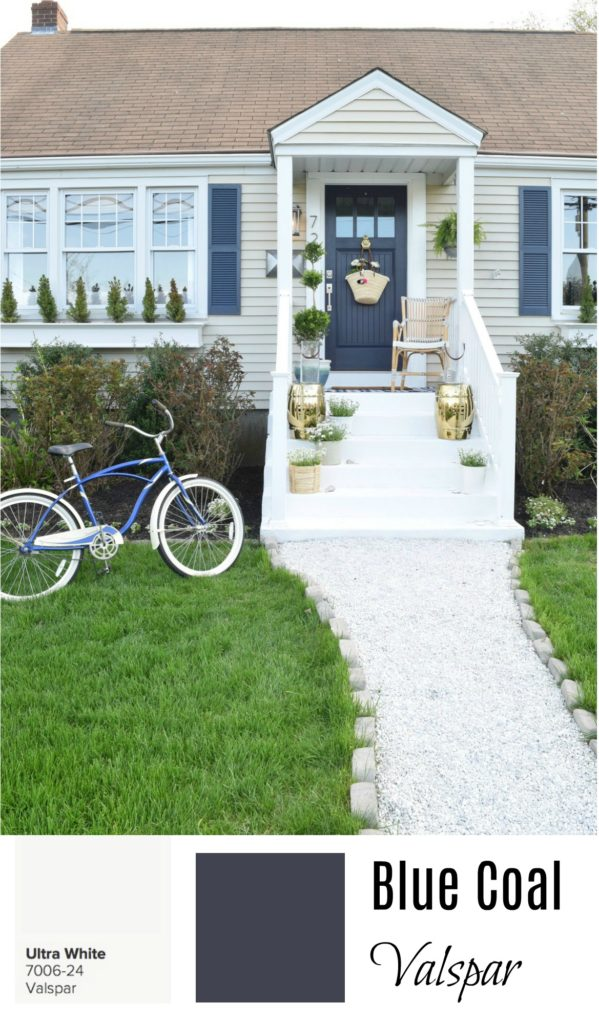 Valspar Blue Coal and Ultra White- Exterior Paint Colors