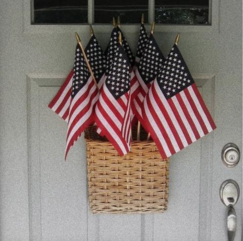 Front Door- Hanging Basket- Non Wreath Idea