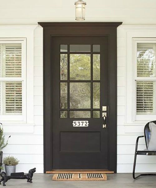 Front Door- Non Wreath Ideas- House Numbers on Front Door
