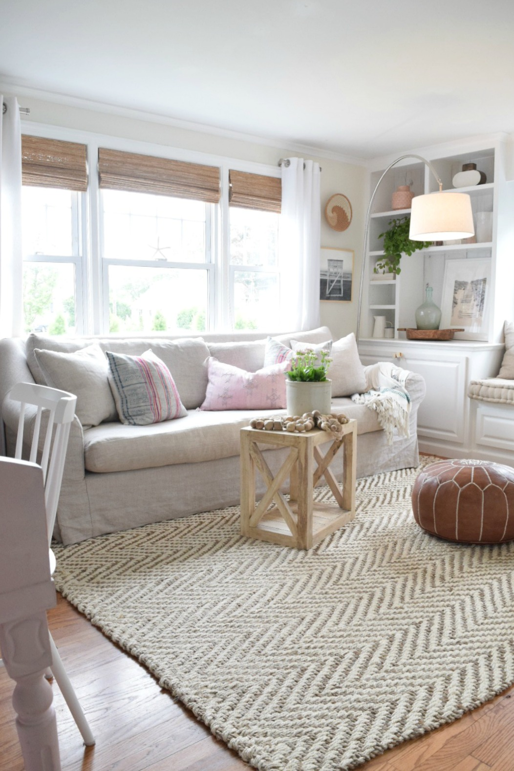 Jute rug review in our living room nesting with grace for Living room of satoshi review