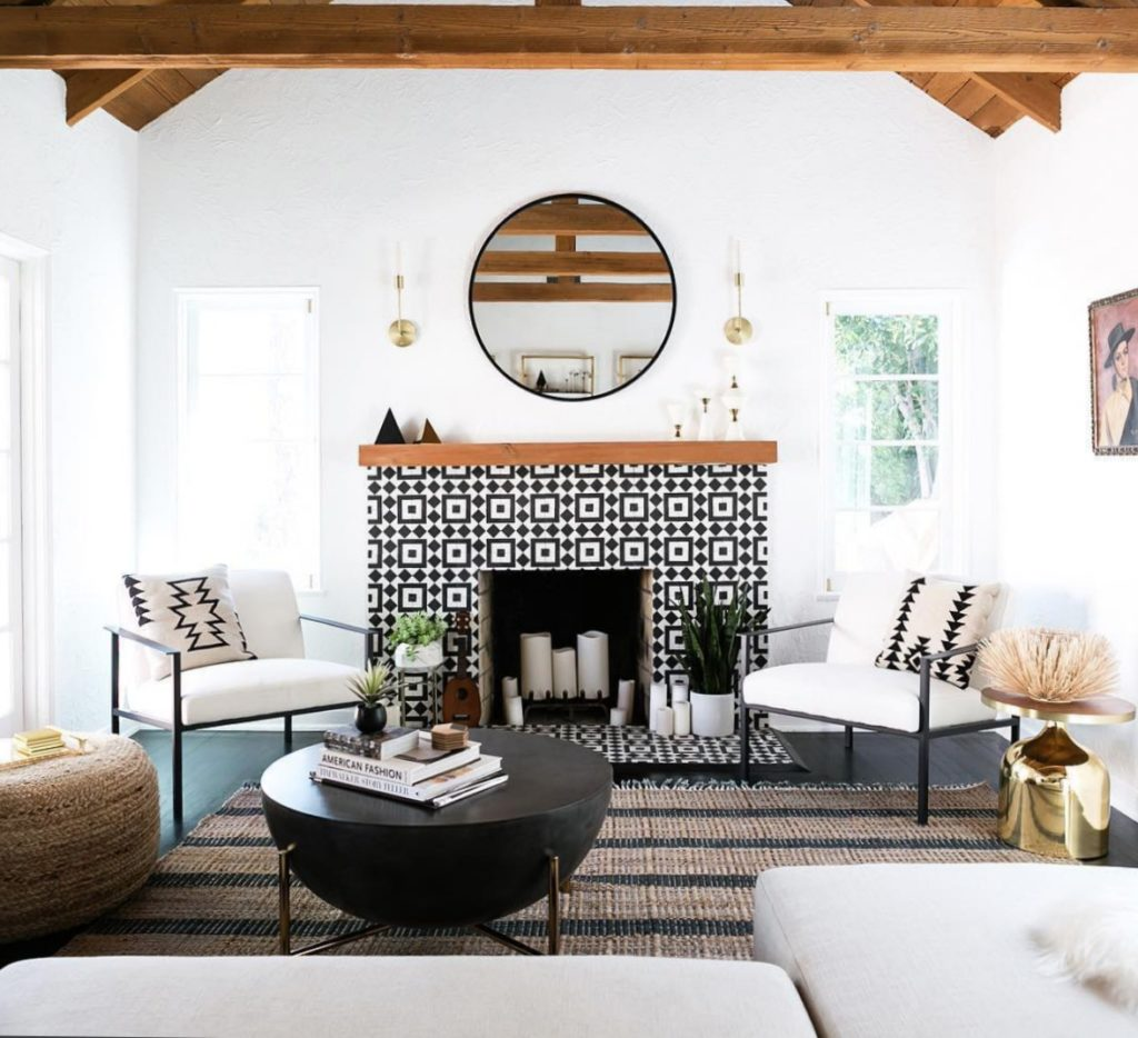 Fireplace Tile Idea- Perfectly styled fireplace